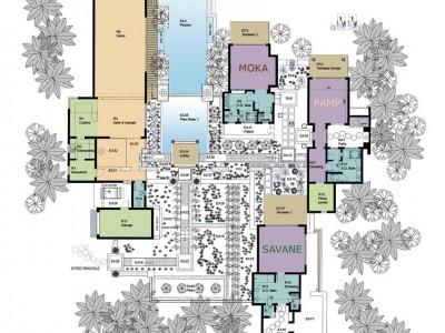 Plan de la ville L'O des Flo à l'Île Maurice - location de chambres d'hôtes à l'Île Maurice